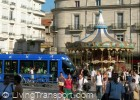 The tram blends easily with city life in Montpelier, France - taken July 2008