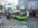 Bus in Cowes town centre, October 2011